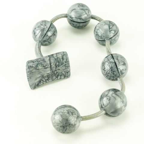 Vixen Creations Gemstones Anal Beads Extra Large Silver Marble