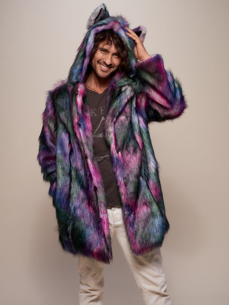 Disco Wolf Faux Fur Coat