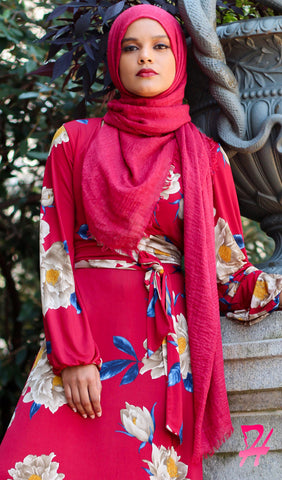 Cotton Cloud Hijab Scarf - Burgundy