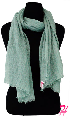 Cotton Cloud Hijab Scarf - Dusty Mint