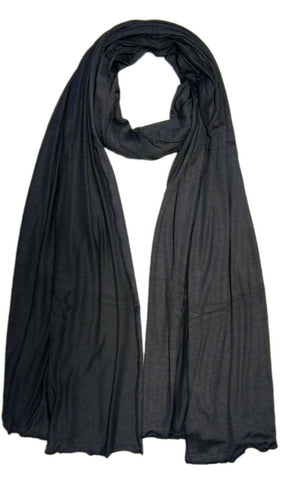 Dark Gray Cotton Jersey Hijab