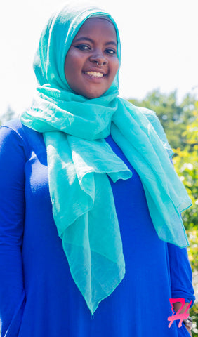 Plain Viscose Maxi Hijab - Sea Green