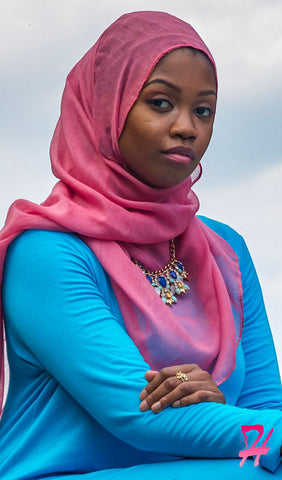Plain Viscose Maxi Hijab - Dusty Rose