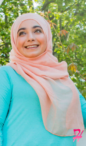 Plain Viscose Maxi Hijab - Peach