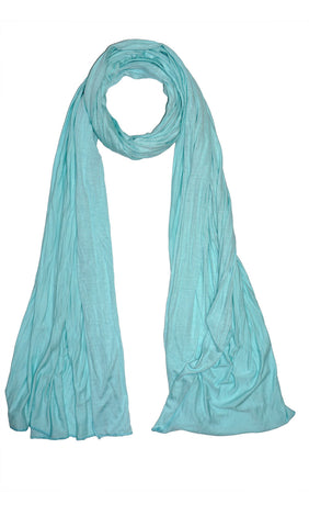 Cotton Jersey Hijab Scarf - Mint