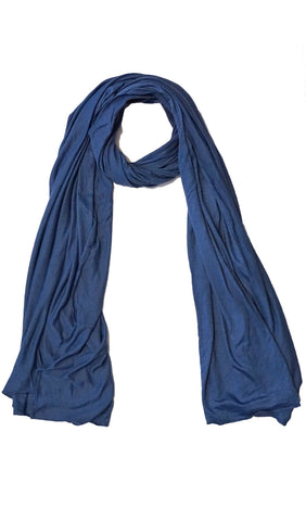 Cotton Jersey Hijab Scarf - Royal Blue