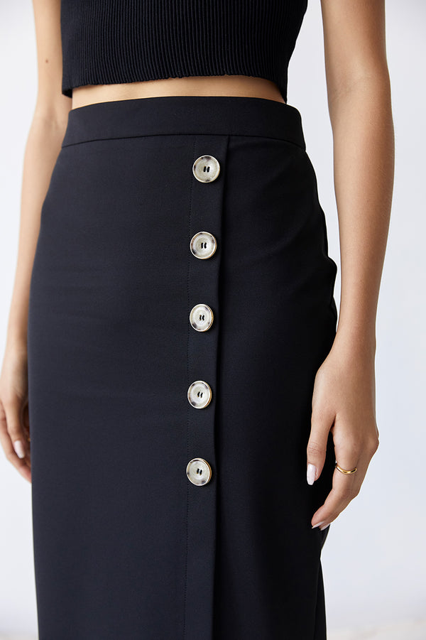 Friend of Audrey Dylan Buttoned Midi Skirt
