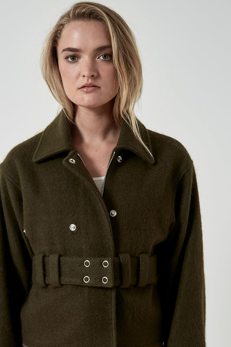 Friend of Audrey Milly Sports Luxe Wool Jacket