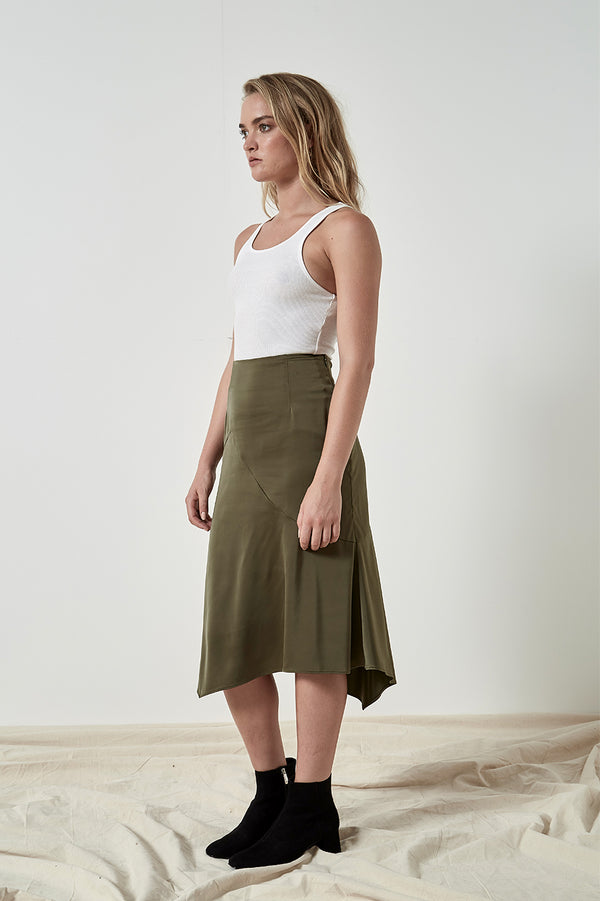 Friend of Audrey Penny Satin Skirt