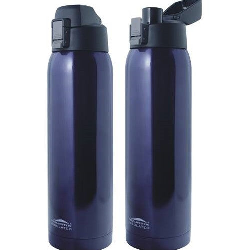 Aquatix Midnight 27 oz Flip Top Bottle Thermal Double Insulated Vacuum Sealed Sports Bottles