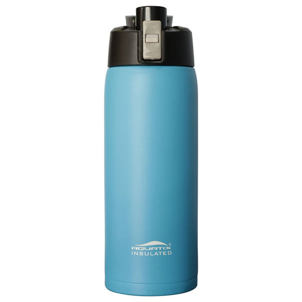 Sea Mist Blue 21 oz  Powder Coated Thermal Double Insulated Vacuum Sealed Sports Bottle Flip Top