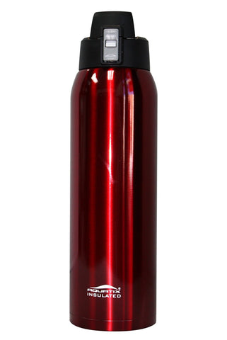Crimson Red 21 oz Thermal Double Insulated Vacuum Sealed Sports Bottle Flip Top