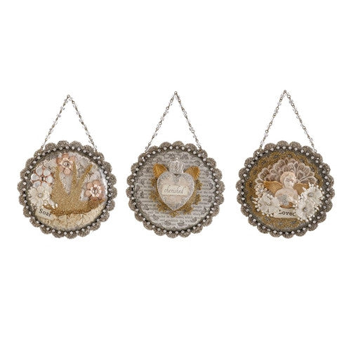 Embellished Dome Scene Ornaments by Demdaco