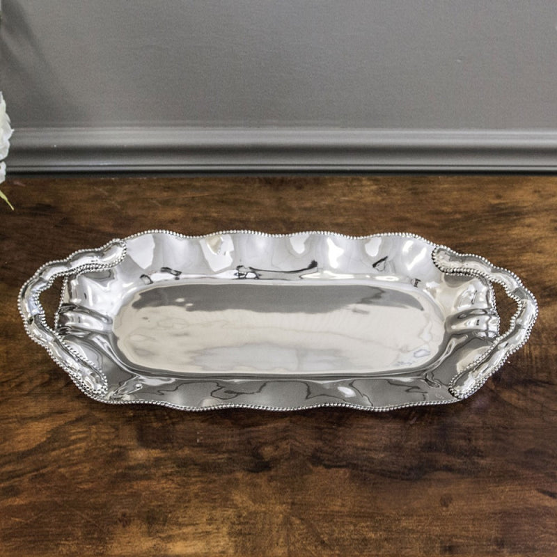 Pearl Denisse Rectangular Platter with Handles by Beatriz Ball