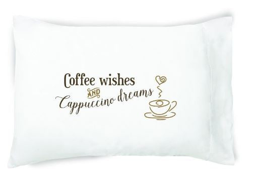 Coffee Wishes Pillow Case By FacePlant Dreams