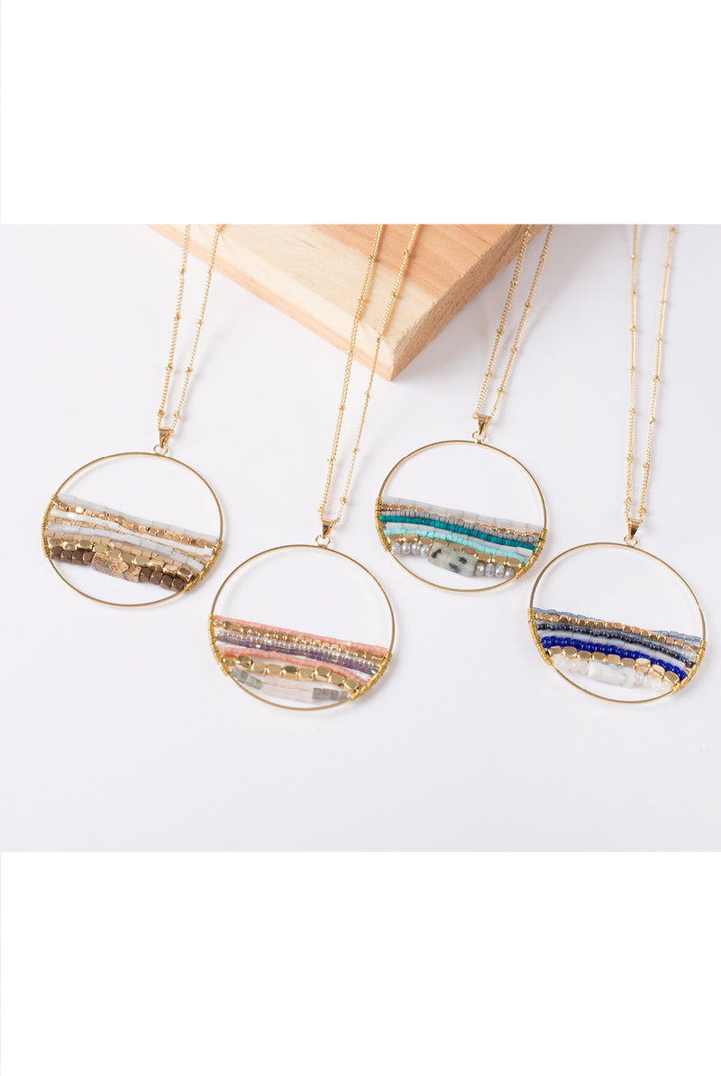 Around the World Circle Necklace By Simply Noelle