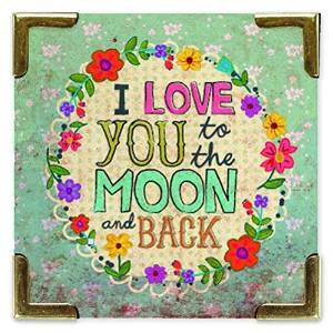 I Love to The Moon Magnet by Natural Life