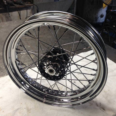Pre Built Custom Wheels with Dunlop Replica Chrome Steel Rims