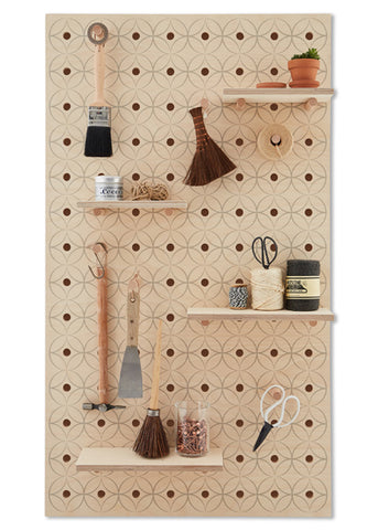 Peg-it-all Pegboard : Floral Pattern