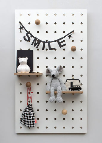 Pegboard White - some specks - 40% off
