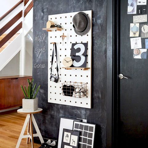 Pegboard White - dent / irregular material - 50% Off