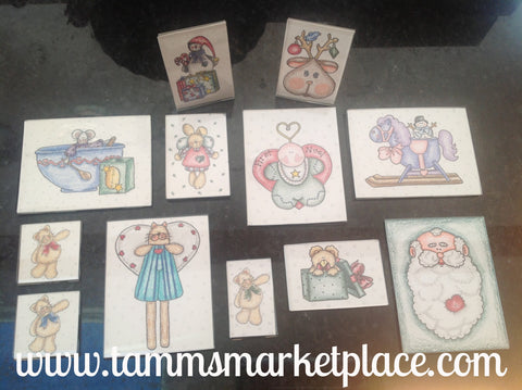 Baby's 1st Christmas 10 magnet set with 2 bonus framed prints included QBF001