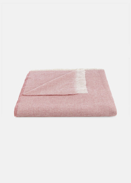 Wool Throw Dusty pink