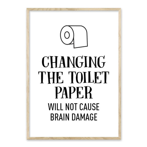 Changing the toilet paper - plakat