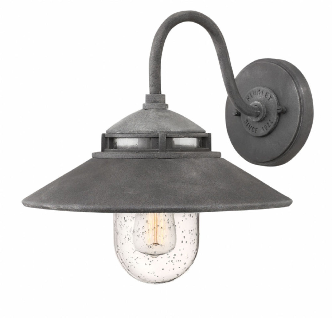 Aged Zinc Atwell Outdoor Small Wall Mount, Lighting, Laura of Pembroke