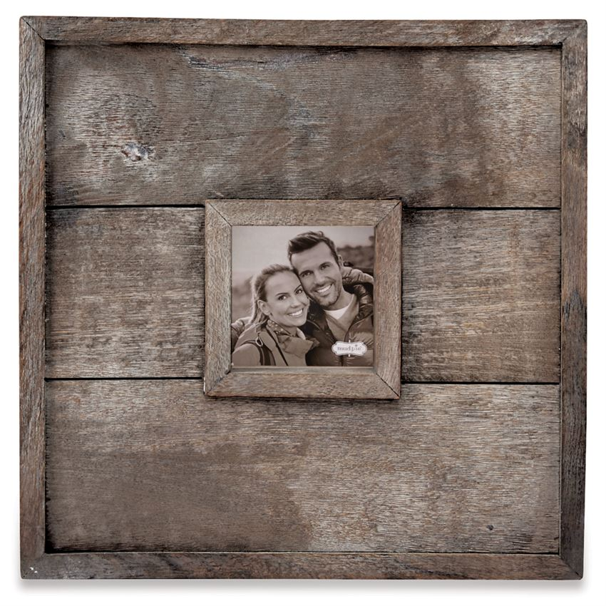 LARGE SQUARE PLANKED WOOD WALL FRAME