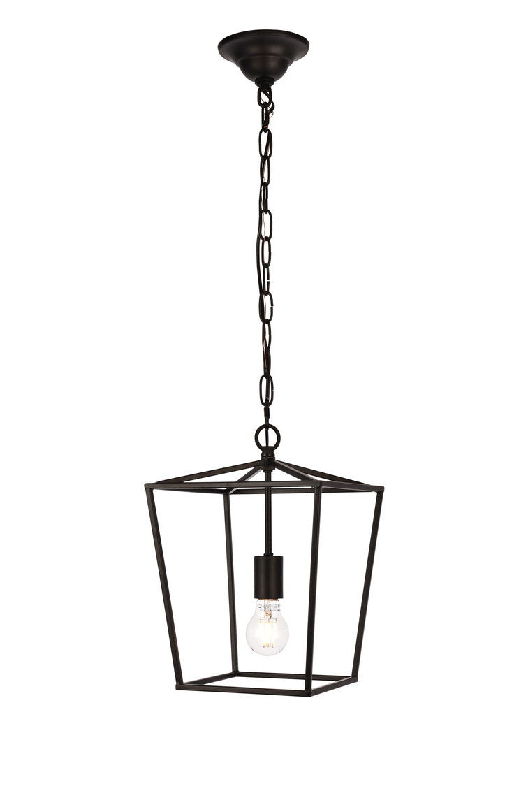 Open Lantern Black 1 Light Mini Pendant, Lighting, Laura of Pembroke
