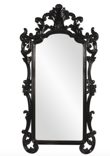 Oversized Black Baroque Mirror