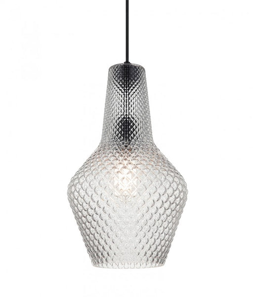 Diamond Textured Glass 1 Light Pendant