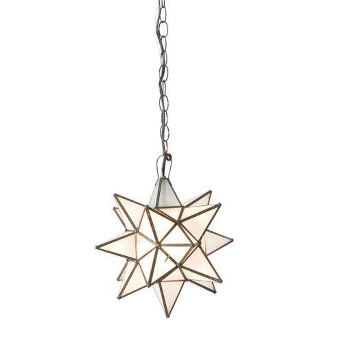 Frosted Star Pendant, Lighting, Laura of Pembroke