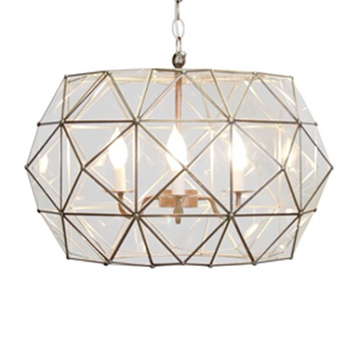 Tin and Clear Glass Pendant, Lighting, Laura of Pembroke