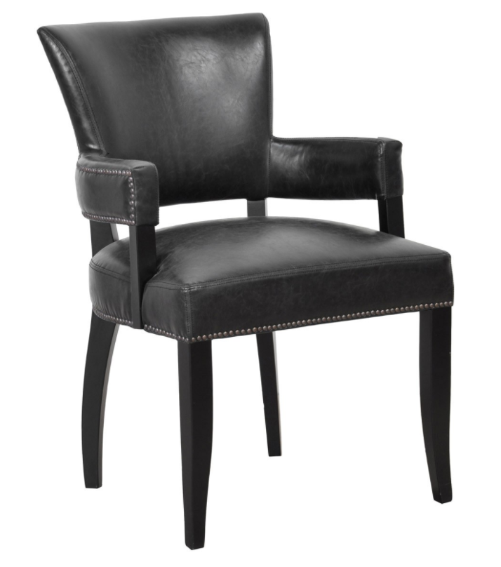 Black Inspired Leather Arm Chair, Home Furnishings, Laura of Pembroke