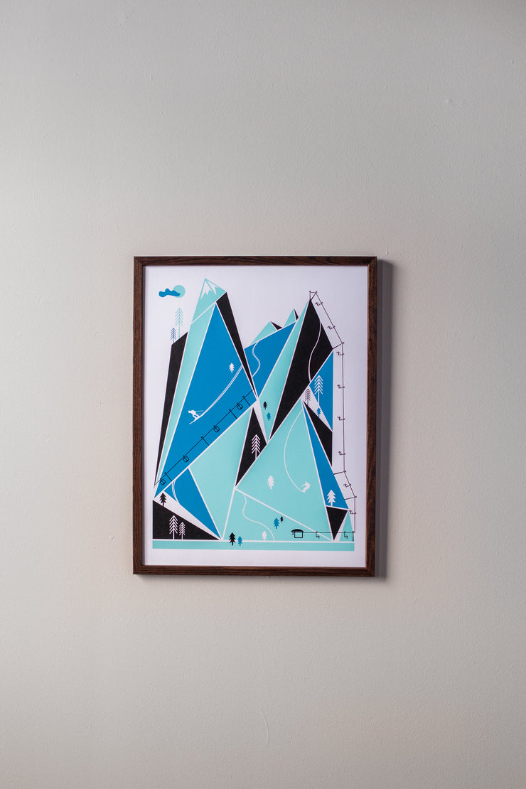 Ski Resort Print by Brainstorm - Get outside and go skiing! Winter Vibes!