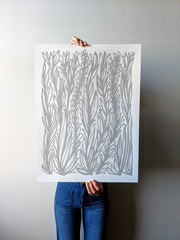 Gray Vines Print by Brainstorm