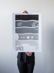 Space Print by Brainstorm - Outer Space! Geospace, Interplanetary, Interstellar, Intergalactic, Beyond