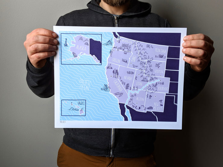 West Map Print by Brainstorm