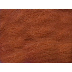 Blood Orange - 21 Micron Merino Wool Top (Sliver)