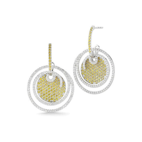 Charriol Black Label White & Yellow Diamond Earrings 03-08-BL10-32