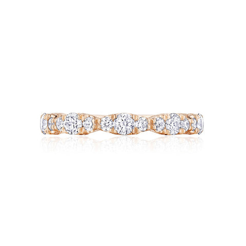 Tacori RoyalT 18K Rose Gold Marquise Shape Ladies Diamond Band HT2653B34PK