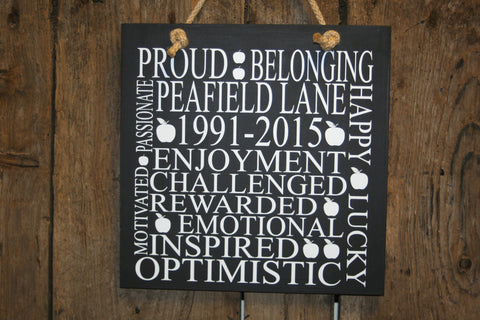 Retirement 'Personalised' - Large Square - 300 x 300mm