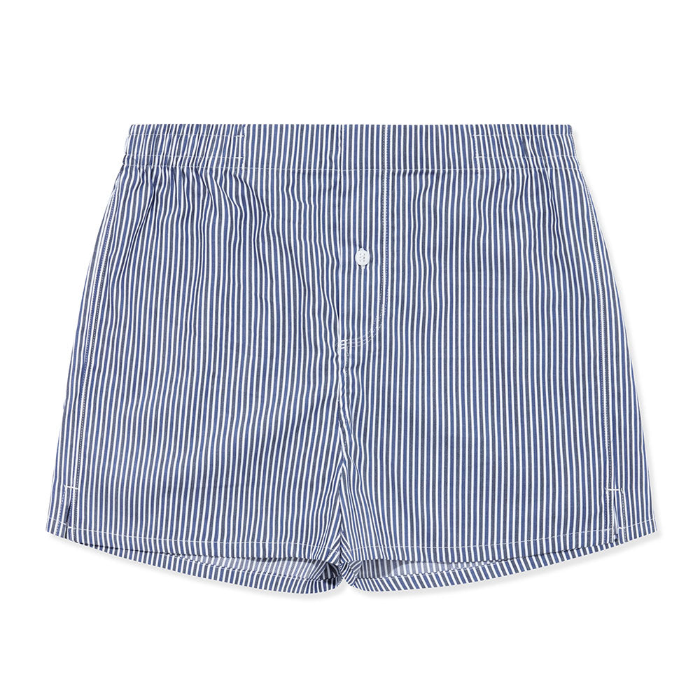 Boxer Short Charcoal and Navy Stripe