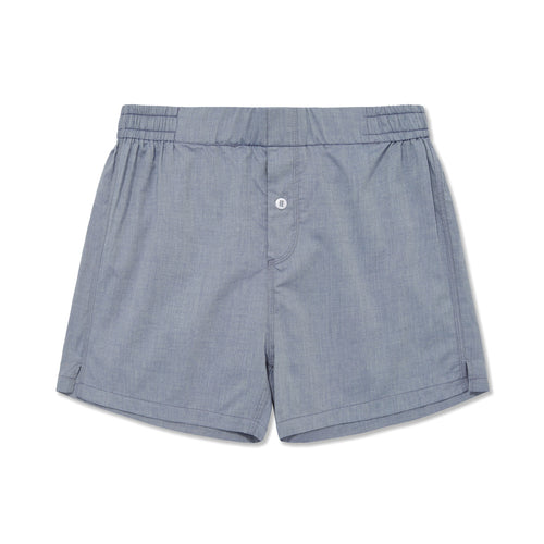Cotton Cashmere Boxer Short Chambray Blue at Hamilton and Hare