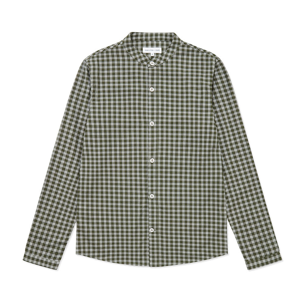 Sleep Shirt - Olive Check