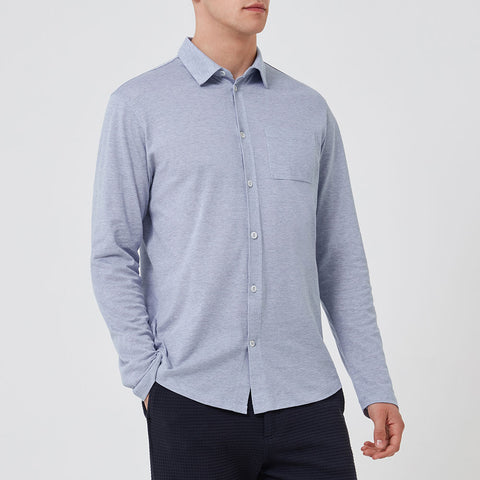 Pique Travel Shirt - Navy