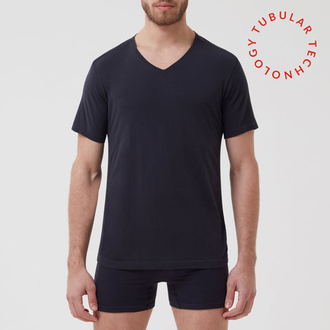 Tubular Crew Neck Tee Black