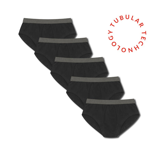 Working Week 5 Pack Tubular Slips - Black